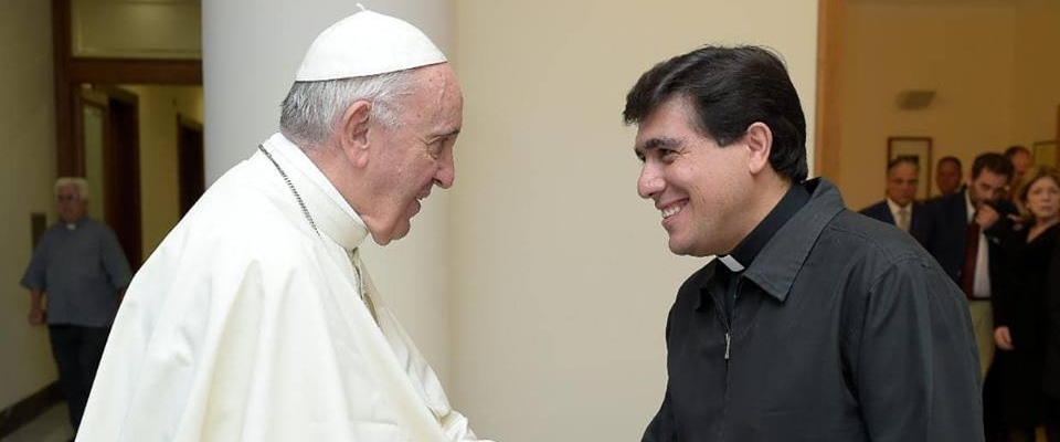 Leo con el Papa