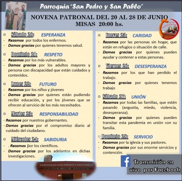NOVENA A SAN PEDRO Y SAN PABLO 2020
