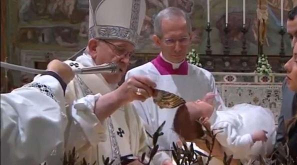 Homilía del Papa Francisco en la fiesta del Bautismo del Señor