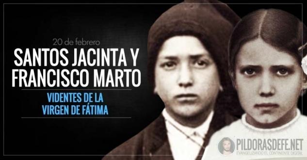 Santos Jacinta y Francisco Marto. Videntes de la Virgen de Fátima