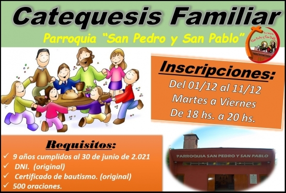 Inscripciones Catequesis Familiar 2021