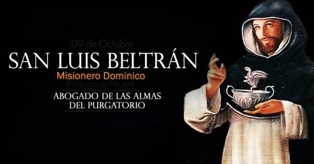San Luis Beltrán. Abogado de las almas del purgatorio