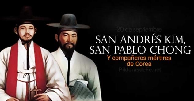 San Andrés Kim, Pablo Chong y compañeros mártires de Corea