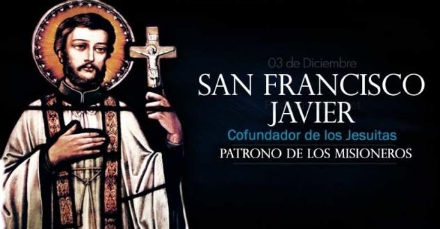 San Francisco Javier. Patrono de todos los misioneros.