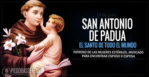 San Antonio de Padua. El Santo de todo el mundo. Patrono de mujeres estériles