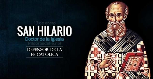 San Hilario. Defensor de la fe católica y gran devoto de los Salmos.
