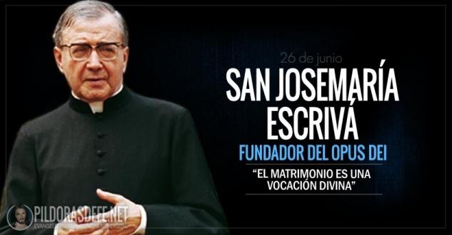 San Josemaría Escrivá de Balaguer. Sacerdote fundador del Opus Dei.