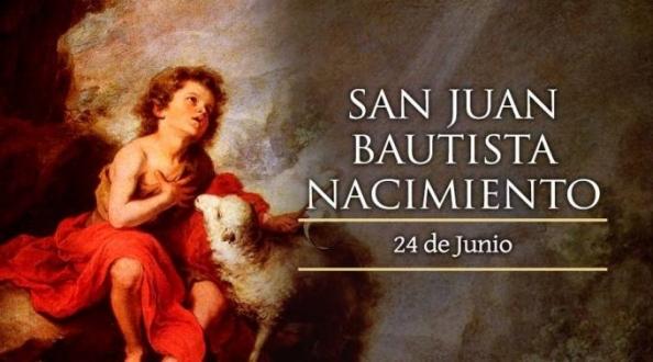 Hoy la Iglesia celebra el nacimiento de San Juan Bautista, el