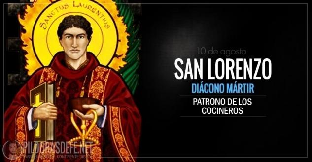 San Lorenzo de Roma. Patrono de los cocineros y mártir.