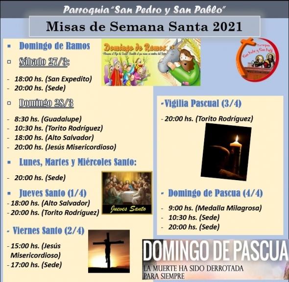MISAS DE SEMANA SANTA 2021