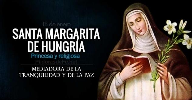 Santa Margarita de Hungría. Mediadora de la tranquilidad y de la paz