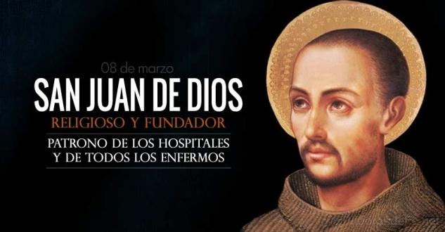 San Juan de Dios. Religioso. Patrono de los enfermos y de los hospitales