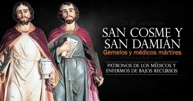 San Cosme y San Damián. Patronos de los médicos, farmacéuticos y enfermos