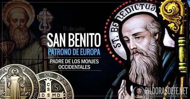 San Benito. Abad. Patrono de Europa. Padre de los monjes occidentales