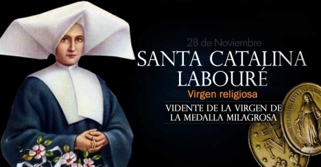 Santa Catalina Labouré. Vidente de la Virgen de la Medalla Milagrosa
