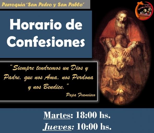 HORARIO DE CONFESIONES 2021