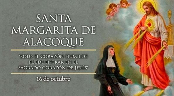 Hoy es fiesta de Santa Margarita de Alacoque, servidora del Sagrado Corazón de Jesús.