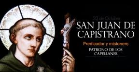 San Juan de Capistrano. Predicador. Patrono de los Capellanes
