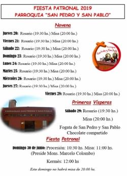 NOVENA A SAN PEDRO Y SAN PABLO 2019
