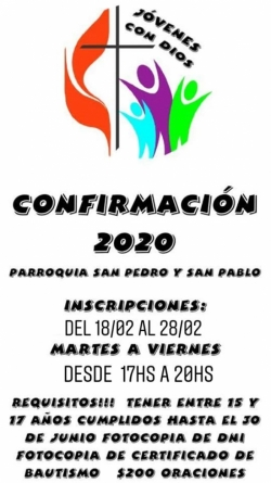 CONFIRMACIÓN 2020