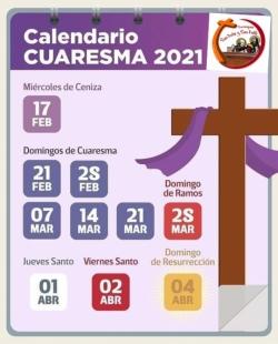 CALENDARIO CUARESMA 2021