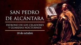 Hoy se celebra a San Pedro de Alcántara, protector de los guardias nocturnos.