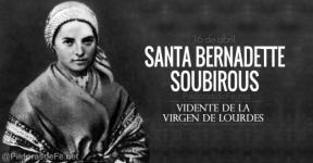 Santa Bernadette de Soubirous. Santa Bernardita. Vidente de la Virgen de Lourdes