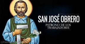 San José Obrero. Patrono de los trabajadores