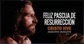 Feliz Pascua de Resurrección. Cristo vive ¡Aleluya, aleluya!