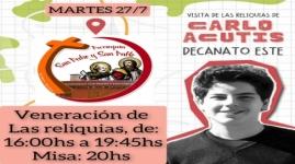 VISITA DE LAS RELIQUIAS DE CARLOS ACUTIS A NUESTRA PARROQUIA
