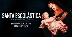 Santa Escolástica. Hermana de San Benito.