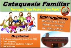 Inscripciones Catequesis Familiar 2021