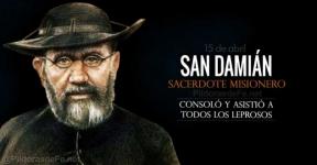 San Damián de Molokai. Sacerdote misionero. Leproso voluntario por amor