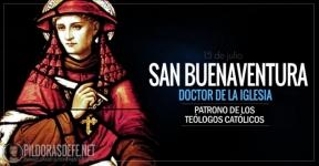 San Buenaventura. Obispo y Doctor de la Iglesia. Patrono de Teólogos Católicos