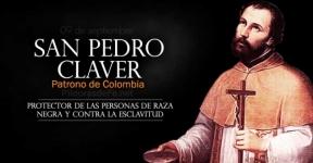 San Pedro Claver. Patrono de Colombia. Protector de las personas de raza negra.