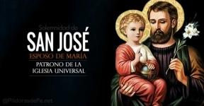 San José. Esposo de la Virgen María. Patrono de la Iglesia Universal