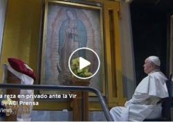 VIDEO: El Papa cumple su sueño de rezar a solas ante la Virgen de Guadalupe