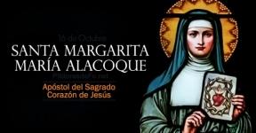 Santa Margarita Alacoque. Apóstol del Sagrado Corazón de Jesús.