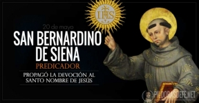 San Bernardino de Siena. Propagó la devoción al Santo Nombre de Jesús