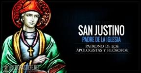 San Justino. Padre de la Iglesia. Patrono de los apologistas y filósofos