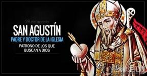 San Agustín. Padre y Doctor de la Iglesia. Patrono de los que buscan a Dios