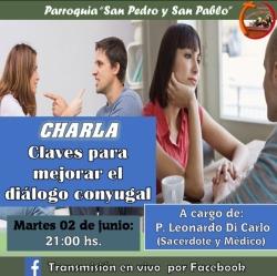 CHARLA: CLAVES PARA MEJORAR EL DIÁLOGO CONYUGAL