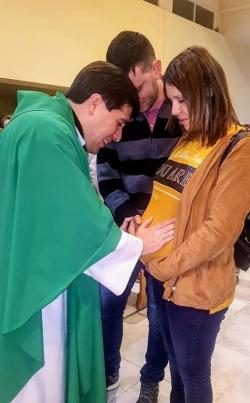 Misa con bendición de embarazadas en nuestra parroquia