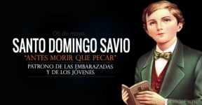Santo Domingo Savio. Patrono de las embarazadas y de los jóvenes