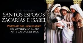 San Zacarías y Santa Isabel, Padres de San Juan Bautista.-