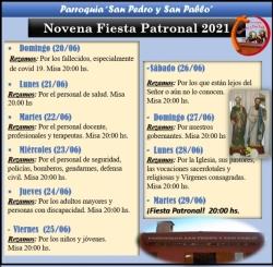NOVENA SAN PEDRO Y SAN PABLO 2021