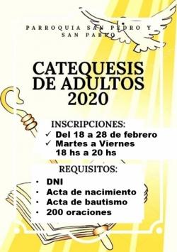 CONFIRMACIÓN ADULTOS 2020 - PARROQUIA SAN PEDRO Y SAN PABLO