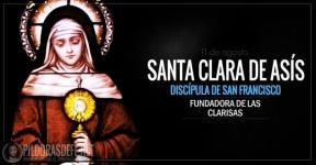 Santa Clara de Asís. Discípula de San Francisco de Asís.