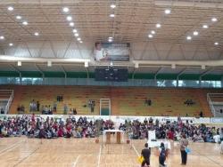 Jóvenes del Catecumenado reunidos para celebrar Domingo de Ramos
